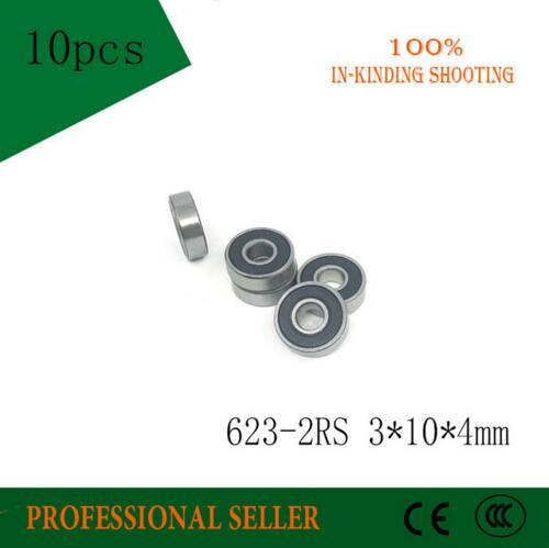 623RS 623-2RS teniendo ABEC-3 3x10mm x 4 mm (1000 uds) rodamientos de bolas en miniatura 623 RS 2RS rodamiento
