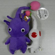 IN HAND NEW set  of 2 GAME PLUSH PIKMIN SERIES PLUSH STUFFED ANIMAL Purple/White BUD ~20CM 15CM  doll Plush