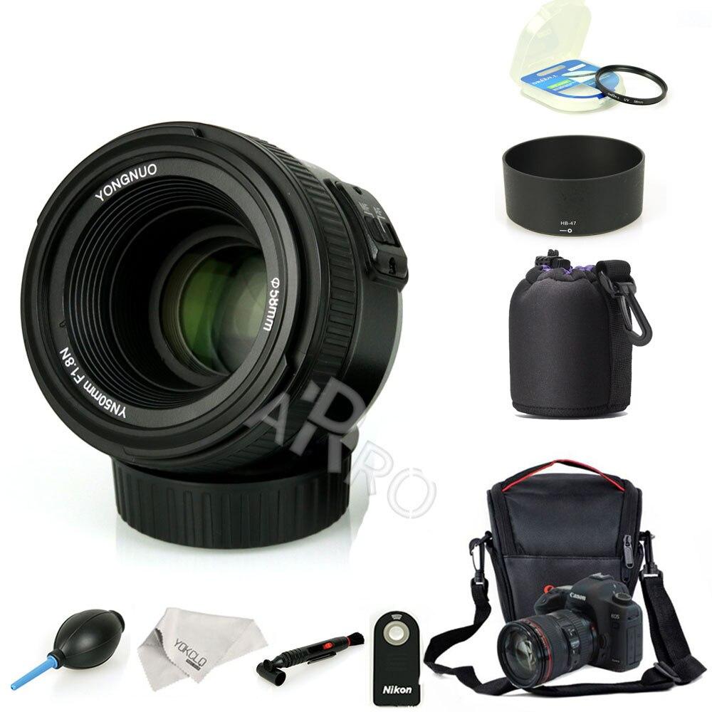 YONGNUO YN 50mm YN 50N f/1,8 AF lente YN50mm Apertura de enfoque automático de gran apertura para cámara Nikon Canon DSLR como AF-S 50mm 1,8G
