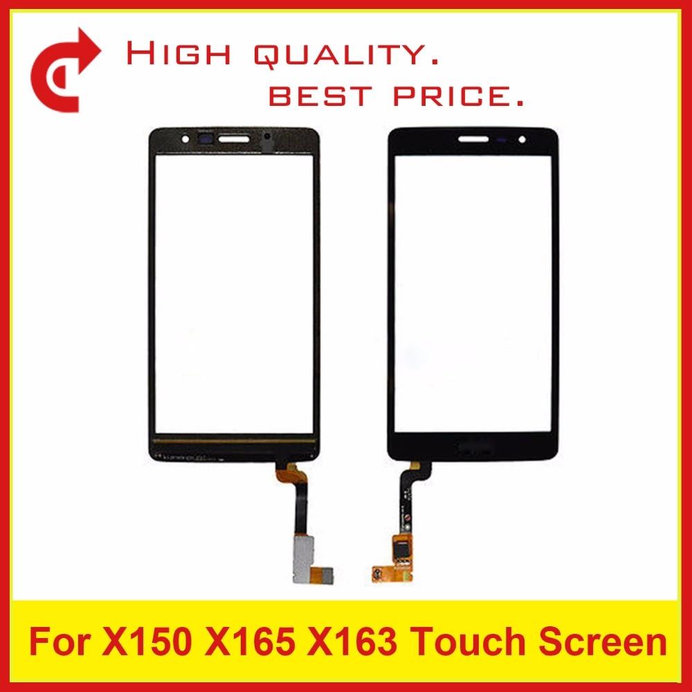 "Alta calidad 4,0 ""para LG L Bello II X150 X165 X163 digitalizador cristal exterior pantalla táctil Sensor lente Panel negro + código de seguimiento"