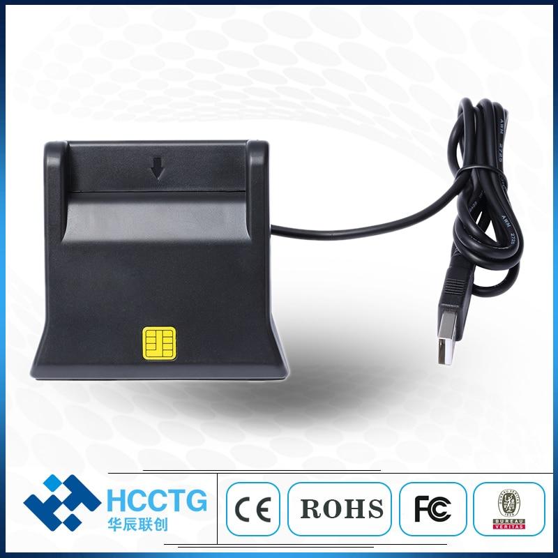Diseño Vertical USB EMV Chip lector de tarjetas escritor DCR31