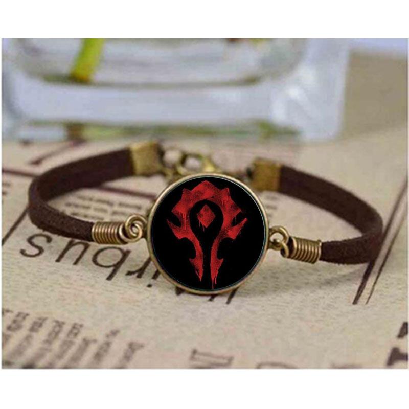 World Steampunk High Quality Unisex Glass bracelet Top Selling Warcraft Punk bracelets Bangle