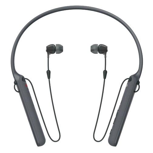 Оригинальные беспроводные наушники Sony WI-C400, наушники-вкладыши с круглым вырезом, черные (WIC400/B)