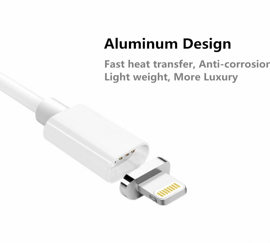 2.4a ładowania kabel do samsung apple iphone 5 5s 6 magnetyczne 6 s 7 plus ipad telefon komórkowy magnet ładowarka micro usb charge kabel 4