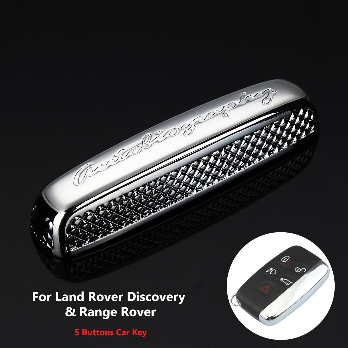 Funda de 5 botones para llave inteligente de coche, carcasa para llave remota para Range Rover para Land Rover Discovery Sport Discovery 4 Freelander 2