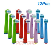 12 stücke Ersatz Kinder Kinder Zahnbürste Köpfe Für Oral B EB-10A Pro-Gesundheit Stufen Elektrische Zahnbürste Oral Care, 3D Excel