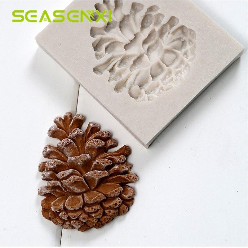 Силиконовая форма для помады сосновые орехи конус DIY декоративные формы конфеты для желе для мыла форма для шоколадного торта декоративный инструмент для выпечки детский любимый