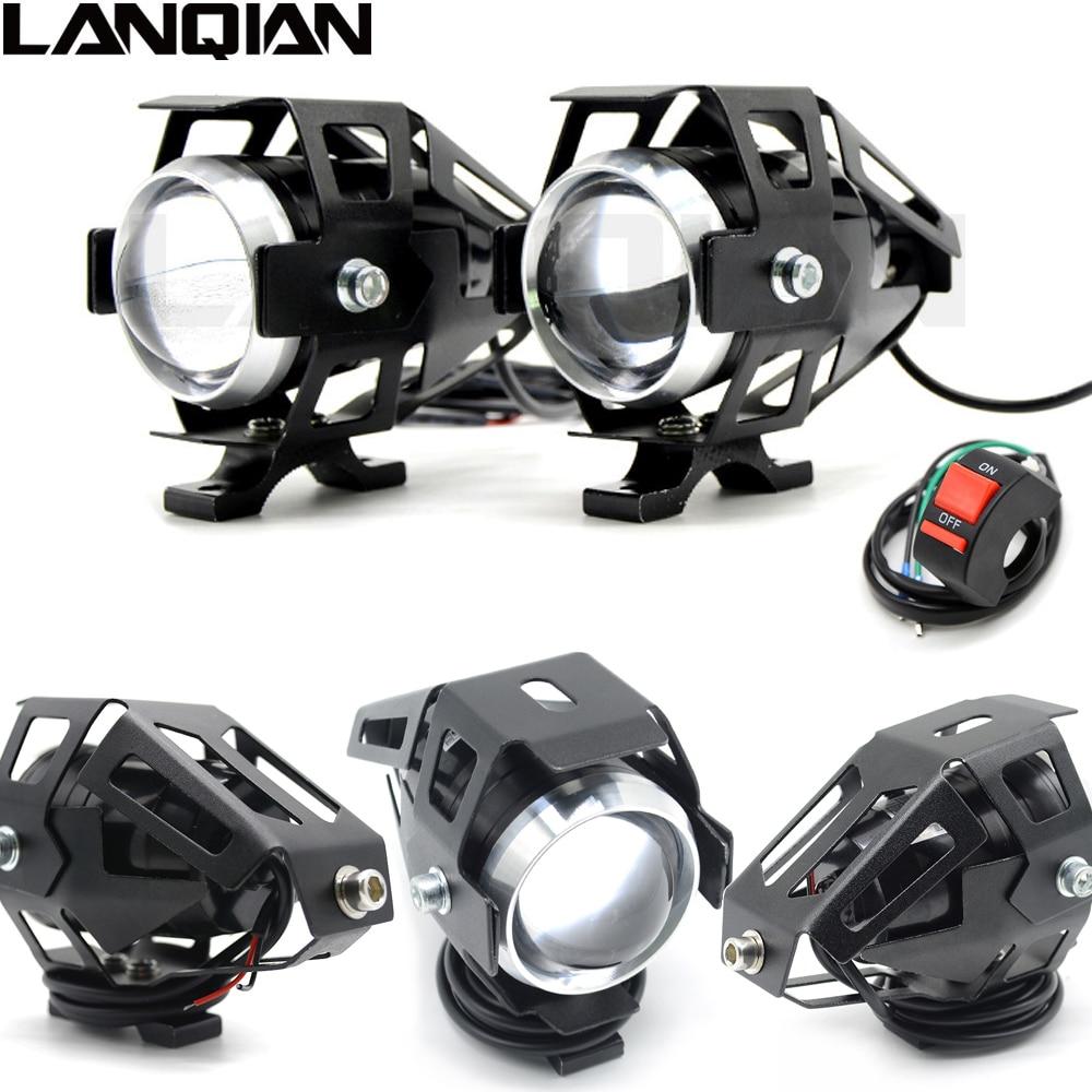 Universal 12V 125W Motorcycle LED Headlight 3000LMW chip U5 Motorbike Driving Spotlight Street Moto Fog DRL Spot Head Light Lamp