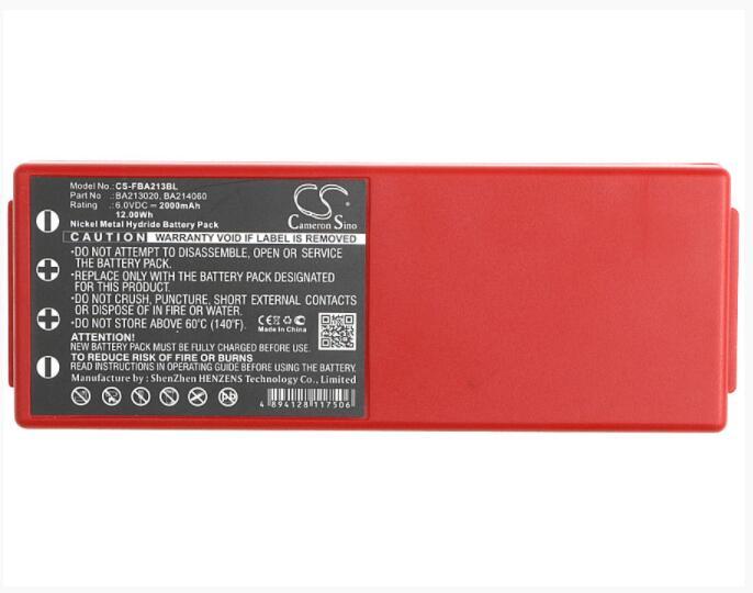Cameron Sino 2000 mAh bateria para HBC Radiomatic Espectro 2 3 005-01-00466 BA213020 BA214060 BA214061