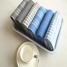 FullLove 45*65cm 3PCS/Set 100% Cotton Kitchen Towels for Cleaning Dish Plaid Mats Striped Towel Cloth Table Napkin Home Textile