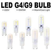 6 шт. Светодиодная лампа-кукуруза G9 Светодиодный лампочки 3 Вт 5 Вт Bombilla G4 светодиодный 220V лампы 2835 лампада g9 диммируемая Светодиодная лампа З...