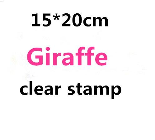 15*20 cm Giraffe stempel Clear Stempel voor Scrapbooking Transparante Siliconen Rubber DIY Fotoalbum Decor