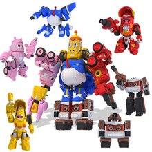 Высококачественные игрушки-трансформеры из АБС-пластика, 5 шт./компл., экшн-фигурки, режим деформации автомобиля и режим меха, подарок на день рождения