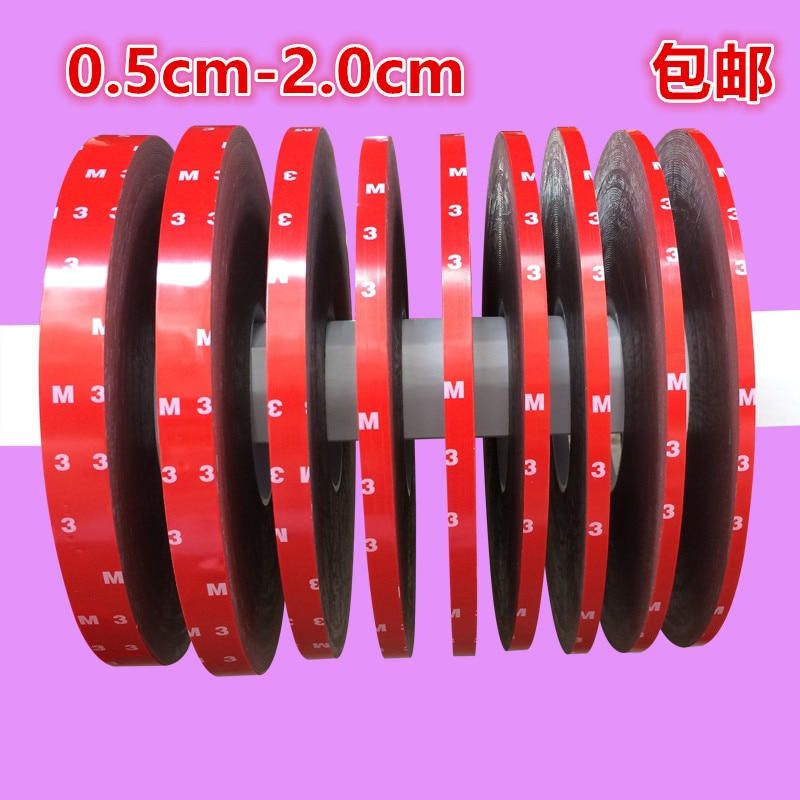 1pcs 3M Auto Truck Car Acrylic Foam Double Sided Attachment Tape Adhesive 20mm *3m (6mm, 8mm, 10mm,