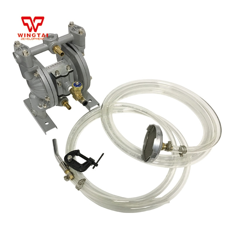Double Way Pneumatic Diaphragm PTFE Pump For Printing Machine Ink, Glue Circulating Transport 10#