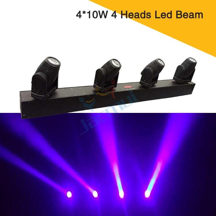 رأس متحرك صغير 4 في 1 ، شعاع ضوء Led مع 4 رؤوس ، 10 واط RGBW ، إضاءة ديسكو DJ ، عرض رخيص
