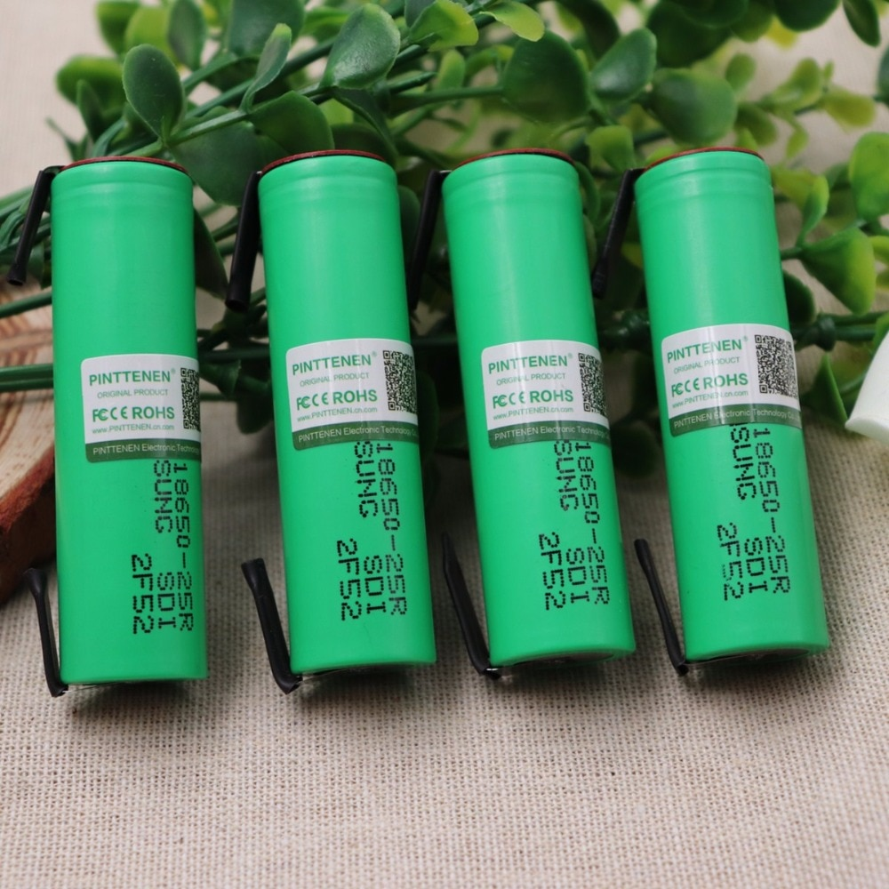 2/3/4/6/10 PCS 100% Original Für Samsung 18650 2500 mah batterie INR18650 25R 20A entladung lithium-batterien + DIY Nickel