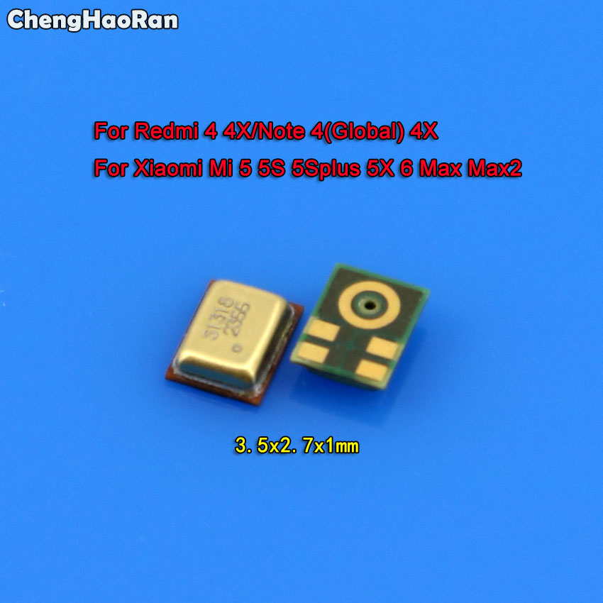 ChengHaoRan Hot Speaker Microphone Inner MIC Parts For Xiaomi Mi 5 5S Plus 5X 6 Max Max2 For Redmi 4 4X/Note 4X 4 Global