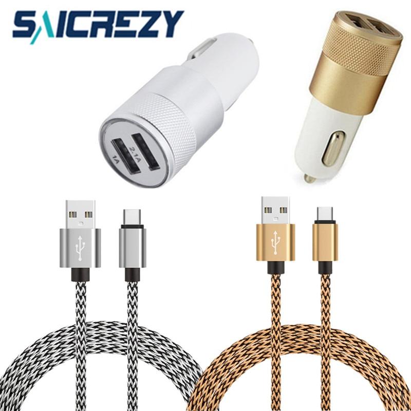 Corto tipo C USB de datos Cargador de Coche Rápido cable para samsung S8 LG G6 huawei P10 P20 para Xiaomi mi 8 OnePlus 3 5 6 Nubia z11 z17 mi ni
