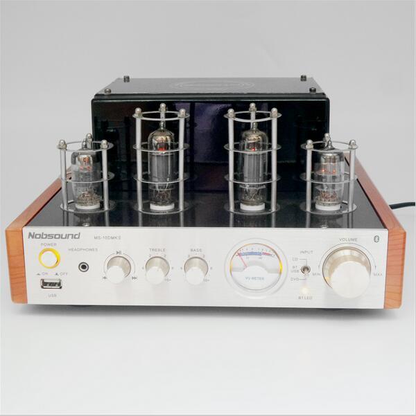 Nobsound MS-10D mkii alta fidelidade 2.0 tubo de vácuo amplificador usb/bluetooth casa amplificador de áudio 25 w * 2 220v amplificador bluetooth amp