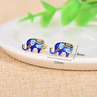 925 sterling silver gorgeous female small stud earring ethnic national beautiful animal jewelry earring for women girl