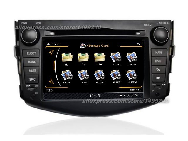 Para a Toyota Vanguard 2005 ~ 2012-Car Sistema de Navegação GPS + Radio TV DVD iPod BT 3G WI-FI HD Tela Sistema Multimídia