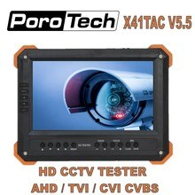 Tragbare Handgelenk X41TAC V5.5 7 Inch LCD CCTV Tester Monitor 5MP AHD TVI CVI CVBS Sicherheit Kamera Tester VGA HDMI eingang 12 V ausgang