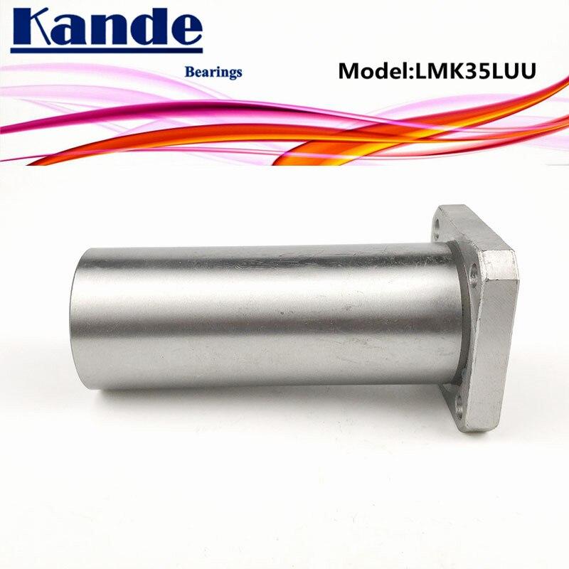 Rodamientos Kande LMK35L LMK35LUU 1 unidad LMK35LUU/LMK35L UU, rodamiento lineal de brida cuadrada extendida dr 35mm