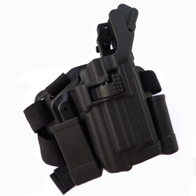 LV3 funda de pistola de cojinete ligero accesorios de pistola de caza táctica funda de pierna para bereta M9 92 96 pistola de Paintball Airsoft