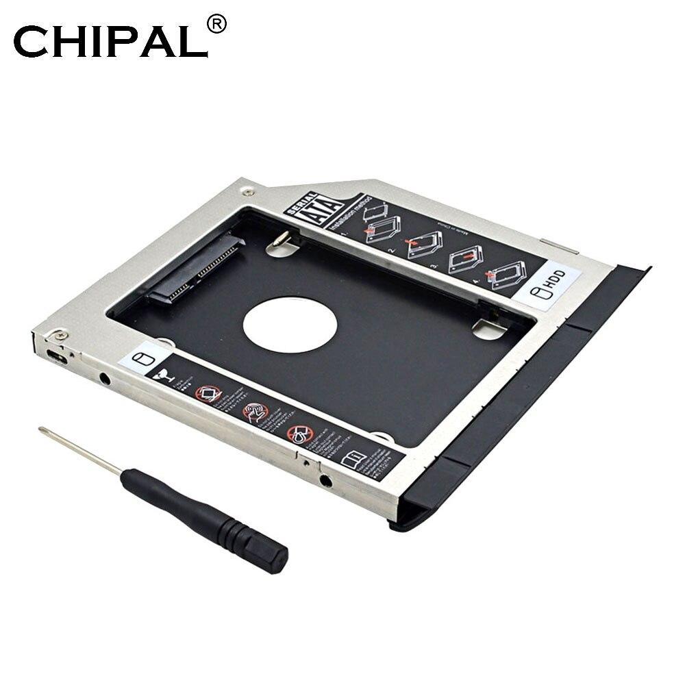 CHIPAL 2-го жесткого диска Caddy 9,5 мм SATA 3,0 с эжектором двойной светодиодной подсветкой для Dell Latitude E6320 E6420 E6520 E6430 E6530 CD-ROM