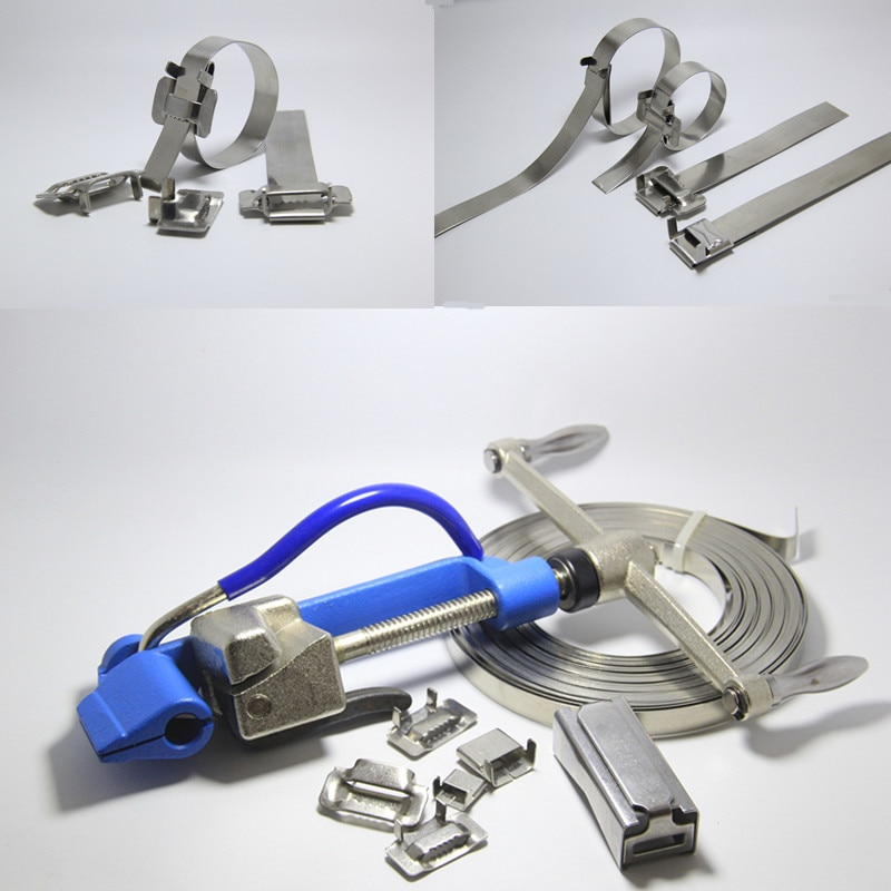 Stainless steel Band Strapping plier strapper,wrapper/packer, Manual binding/wrapping machine,Cable tie cutting tool enlarge