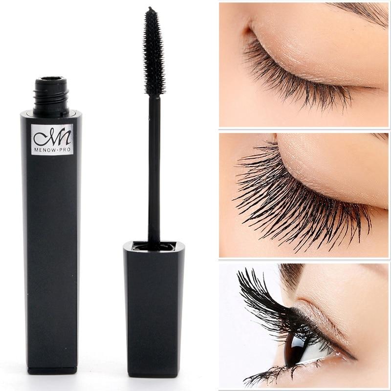 1 Pza máscara de pestañas de maquillaje profesional de pestañas largas de extensión de pestañas de maquillaje negro