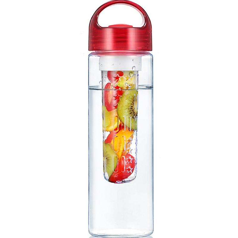 Botella de agua Detox Health de 700ML con infusión de frutas, exprimidor de frutas para zumo de naranja Limón, botella deportiva de Fitness con Infusor de té