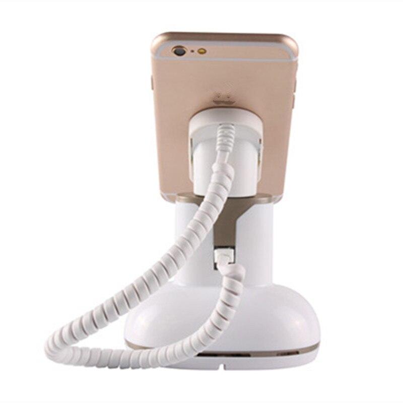12 Set gran oferta dispositivo antirrobo independiente para venta al por menor soporte de pantalla de teléfono móvil con función de alarma de zumbador de carga