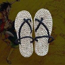 Une pièce singe D Luffy chaussures Cosplay deguisement sandales paille