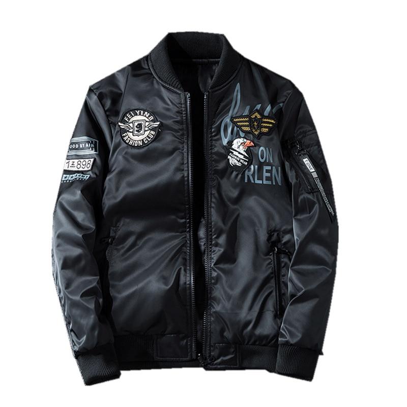 Nueva chaqueta Bomber para hombre, abrigo bordado para hombre, 7XL, delgada, gruesa, AB, ropa Casual de calle, ropa de marca para hombre, prendas de vestir BY99