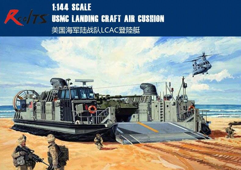 Realts trompetista modelo kit-lcac landing craft almofada de ar usmc-escala 1144-00107