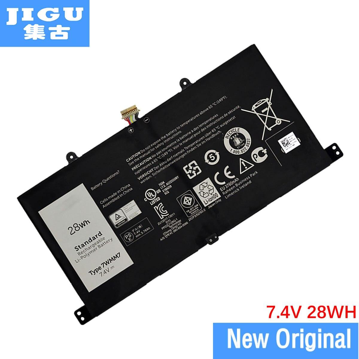 Jigu Nieuwe 7.4V 28Wh Voor Dell Venue 11 Pro Toetsenbord Tablet Batterij 7WMM7 CFC6C CP305193L1 D1R74