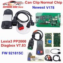 Best Match Lexia 3 PP2000 Diagbox V7.83 Lexia3 Firmware 921815C Lexia-3 PSA XS Evolution+Normal Chip Can Clip V178 DHL Free
