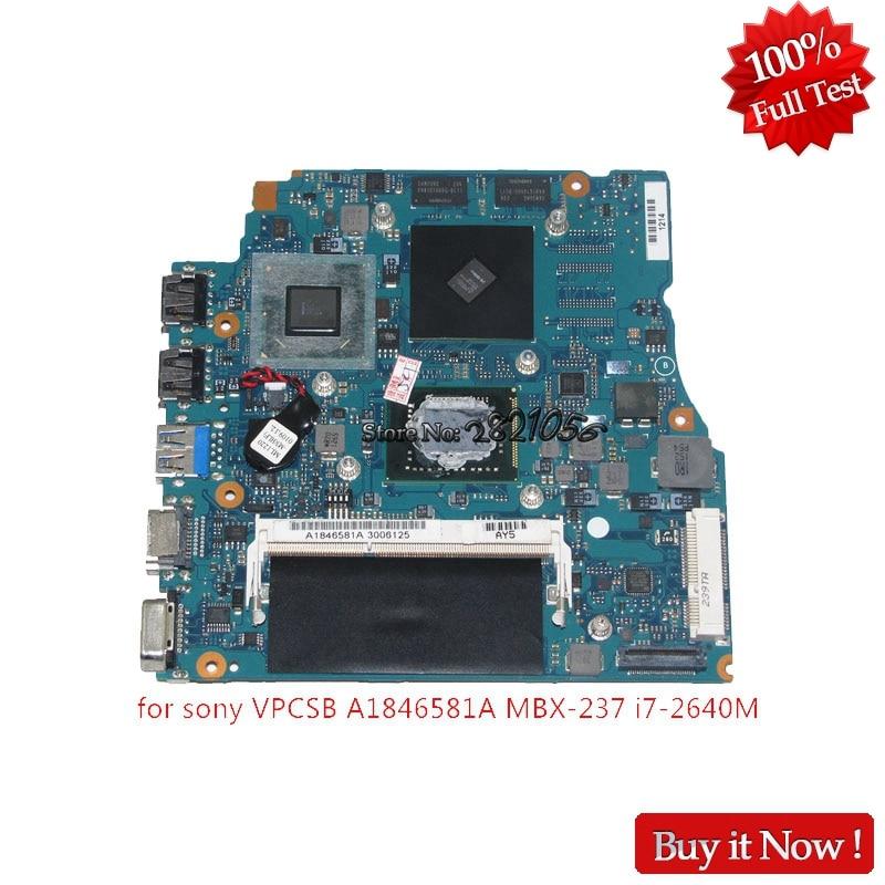 NOKOTION A1846581A V032 MP 10L IDH SONY VAIO VPCSB MBX-237 placa base de computadora portátil HM65 ATI HD 6470M + I7-2640M + 4G