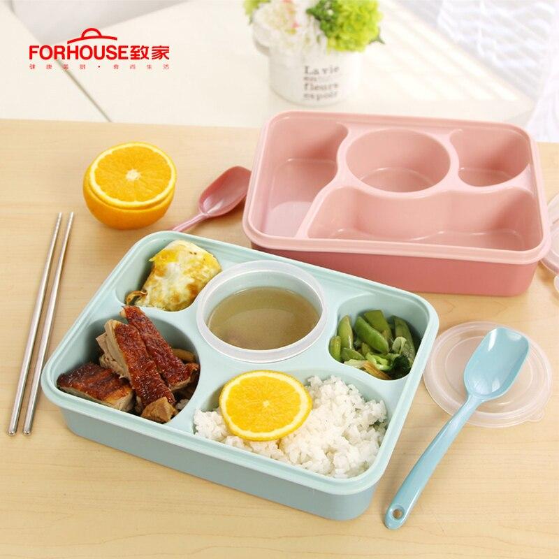 Ланч бокс Microwavable Bento box Герметичный портативный пищевой контейнер для хранения