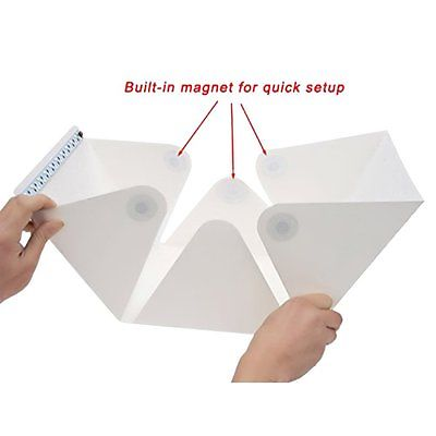 NEW TYPE Mini Folding Studio Diffuse Soft Box With LED Light Black White Background Photo Studio Accessories photo studio box enlarge