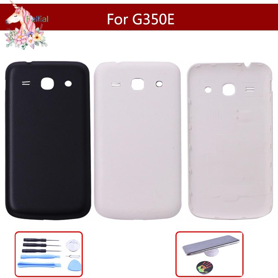 "4,3 ""para Samsung Galaxy Core Plus SM-G350E G350 G3500 G3502 batería cubierta trasera carcasa trasera piezas de repuesto con logotipo de"