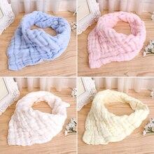 New Hot Baby Simple Design Soft Pure Cotton Blend Gauze Bibs Burp Cloths Saliva Towel Feeding Triangle Bandana Neonatal Towels