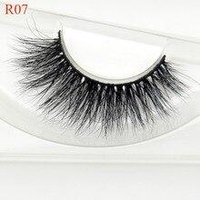 Mink Eyelashes 100% Hand Made Natural Long Real Mink Fur False Eyelash 3D Strip Mink Lashes Thick Fa