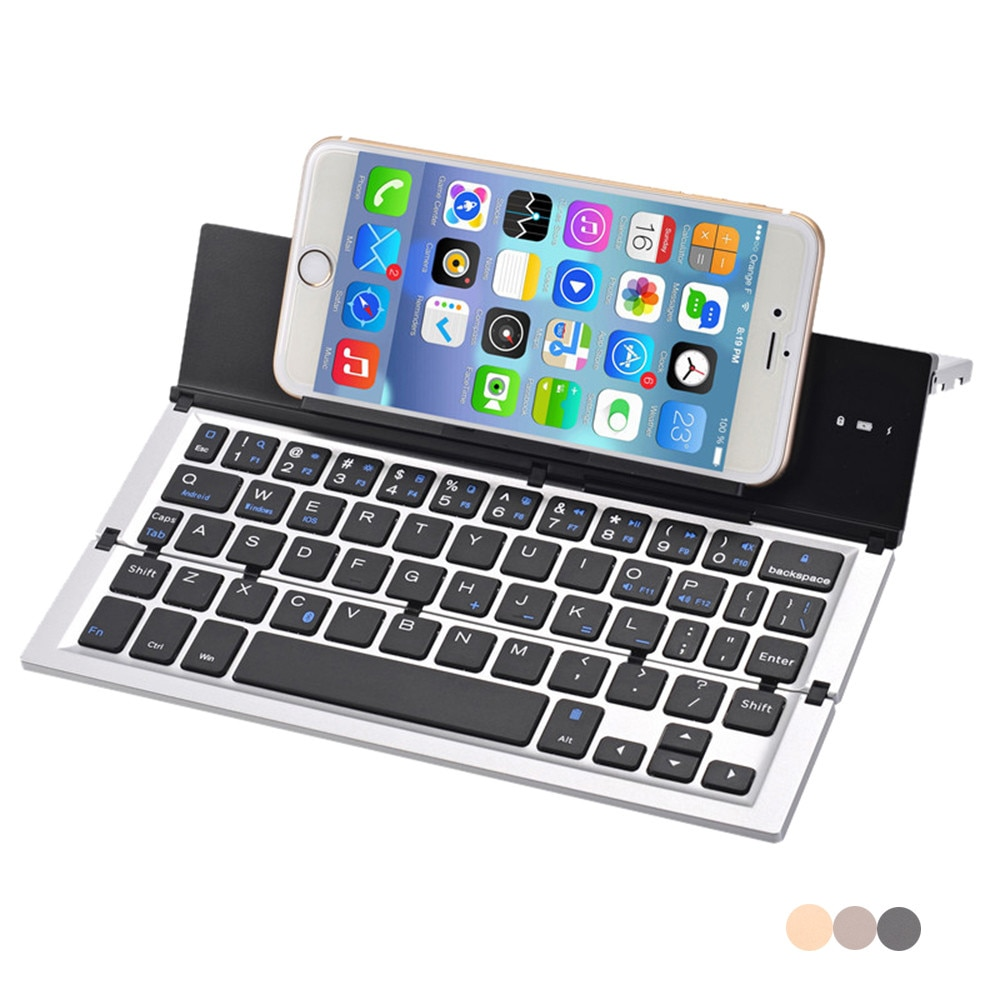 Voberry dobrável dobrável sem fio bluetooth teclado para tablet para iphone xs x 8 ipad mini/pro samsung s9 s10 para huawei #2