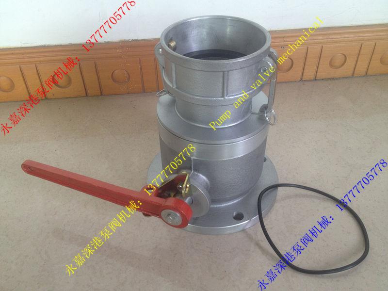 (4 pulgadas válvula de bola unidireccional DN100, extremo negativo), estación de gas, puerto de descarga de aceite, coche tanque de aceite, válvula de bola, aleación de aluminio