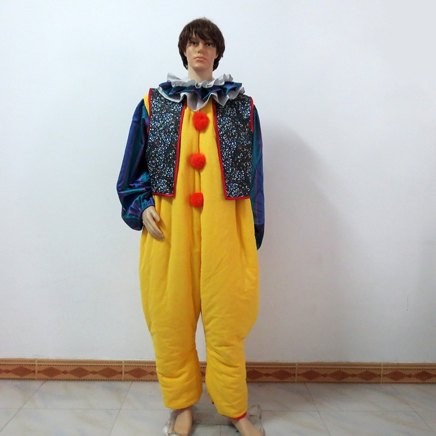 Disfraz de disfraz personalizado de Stephen Kings Pennywise de It, payaso, Joker, Horror malvado, Terror, Halloween
