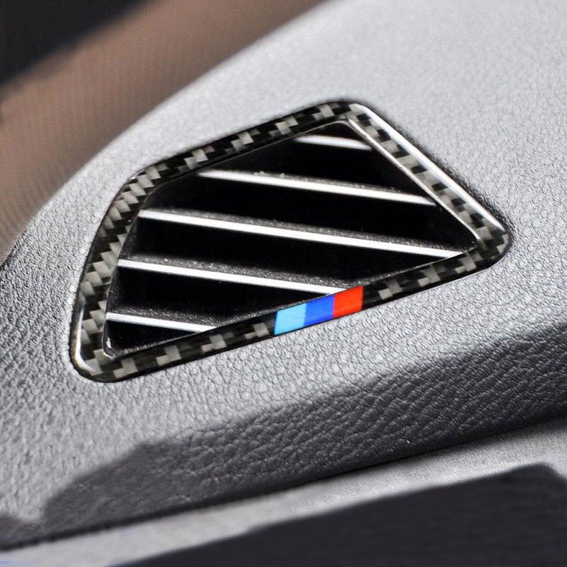 Carbon Fiber For BMW X5 X6 E70 E71 F15 F16 Car-styling Dashboard Air Conditioning Vent Cover Trim Sticker Auto Accessories