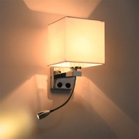 Thrisdar בד קיר מנורת עם LED ספוט אור שינה מיטת בד קיר אור מלון מרפסת מעבר קיר מנורות